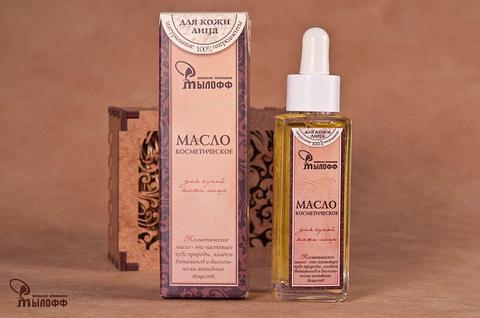 Масло косметическое Для сухой кожи лица с эфирными маслами, экстрактом ромашки и витамином Е, 50 мл, ТМ Мылофф