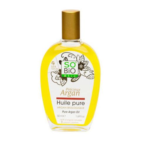 Масло аргановое чистое органическое SO'Bio etic, 50 мл