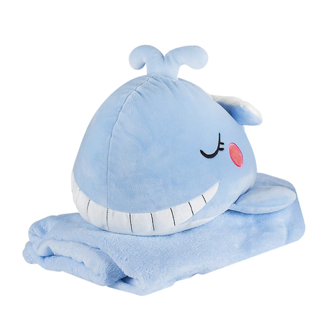 Игрушка Whale Blue с пледом