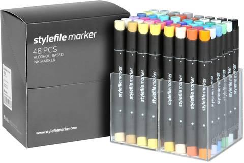Набор маркеров Stylefile Classic 48 штук (основные цвета A) в пластиковой упаковке