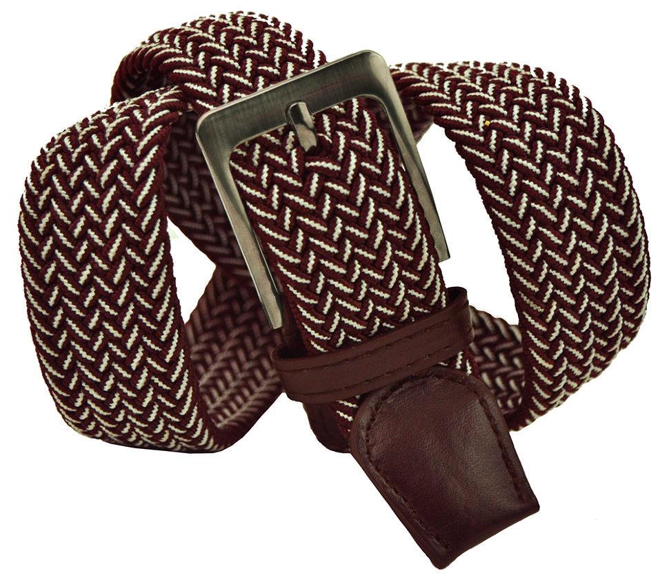 Ремень-резинка текстильный коричневый металлик 35 мм 35Rezinka-193