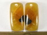 Комплект кабошонов симбирцита  28х14х6 мм - 2 шт.