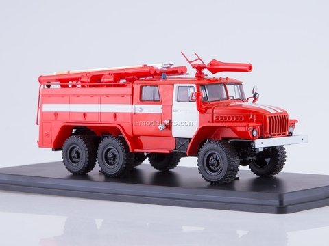 Ural-43202 AC-40 PM-102B fire engine 1:43 Start Scale Models (SSM)