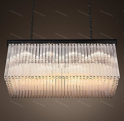 1930S ASTOR CRYSTAL RECTANGULAR Restoration Hardware 68400008