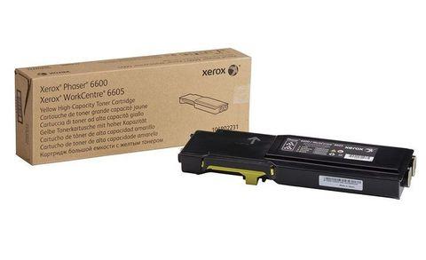 Тонер-картридж желтый повышенной ёмкости Xerox Phaser 6600 / WC6605 (106R02235). Ресурс 6000 страниц