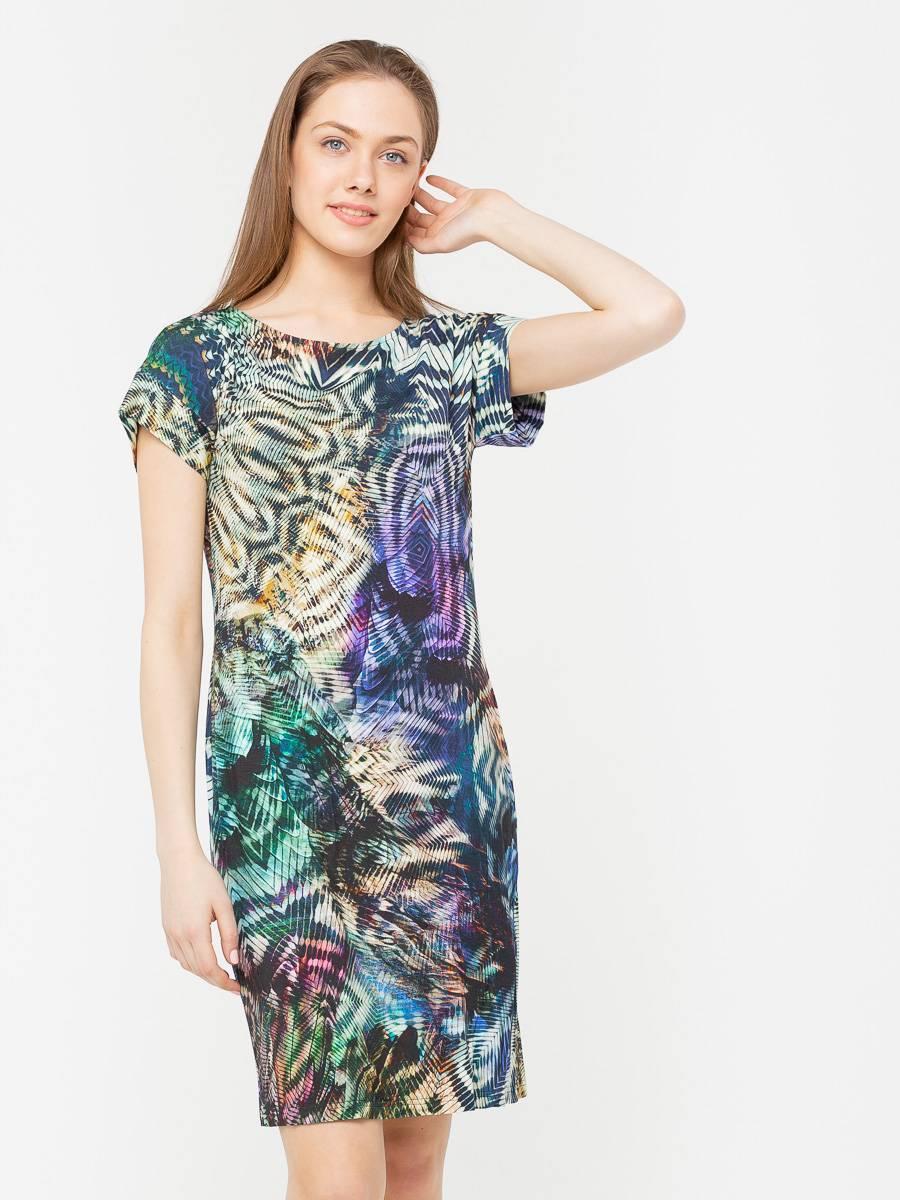 Платье З205-258 - Трикотажное платье облегающего силуэта и цельнокроеным рукавом. Приятная на ощупь, комфортная ткань для повседневной носки. Эта модель станет неотъемлемой частью летнего, повседневного гардероба.