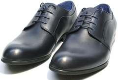 Синие туфли под синий костюм мужские Ikos 060-4 ClassicBlue.