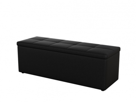 Пуф Orma Soft 2 двухместный Экокожа: Черный