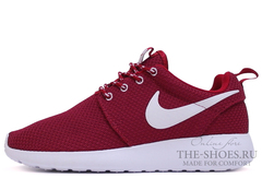 Кроссовки Женские Nike Roshe Run Material Cherry White