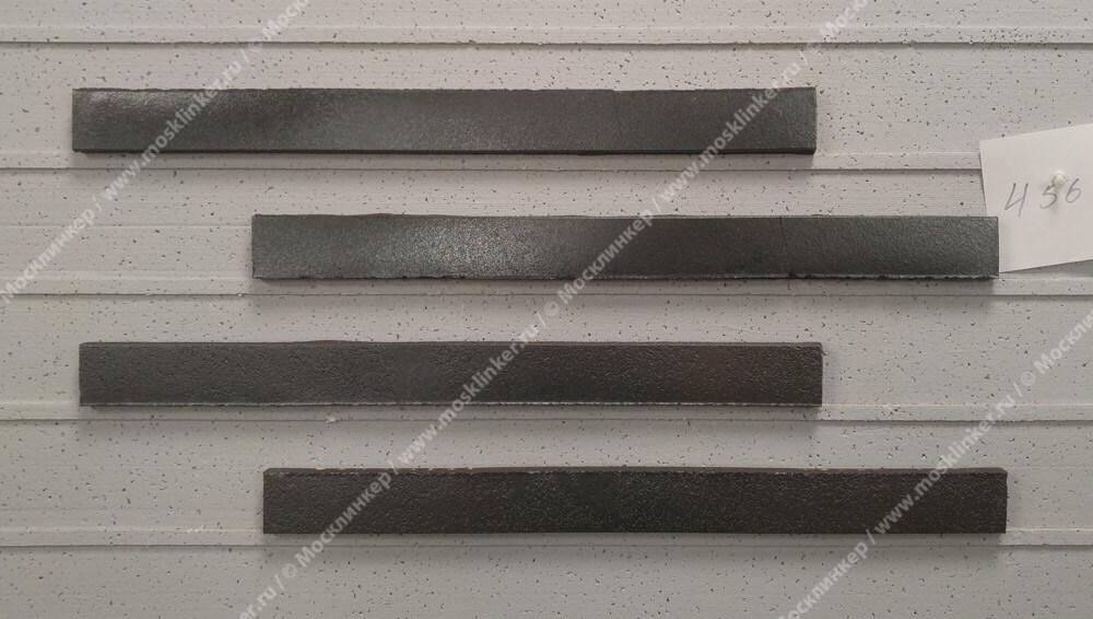 Stroeher - 456 schwarz-blau, Riegel 50, сверхдлинная, 490x40x14 - Клинкерная плитка для фасада и внутренней отделки