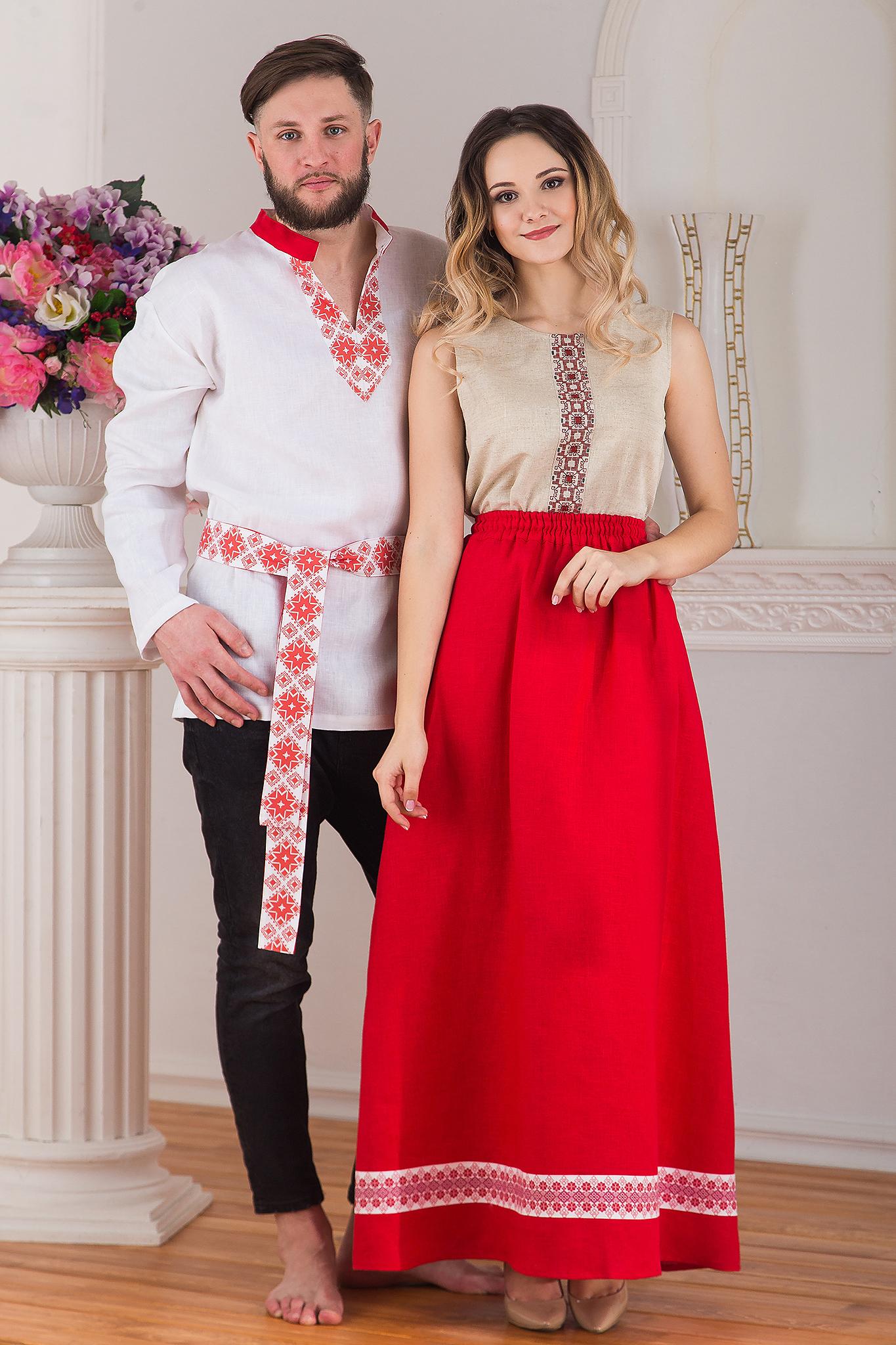 Юбка длинная льняная Ягодка от интернет-магазина Иванка