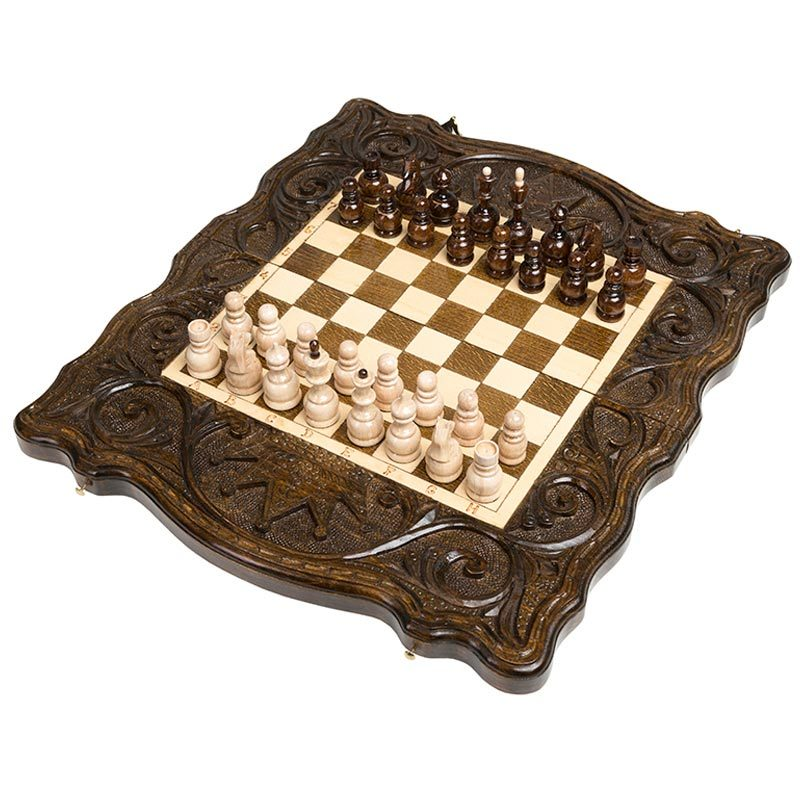 Шахматы + нарды резные «Корона» 40, Haleyan от 10 990 руб
