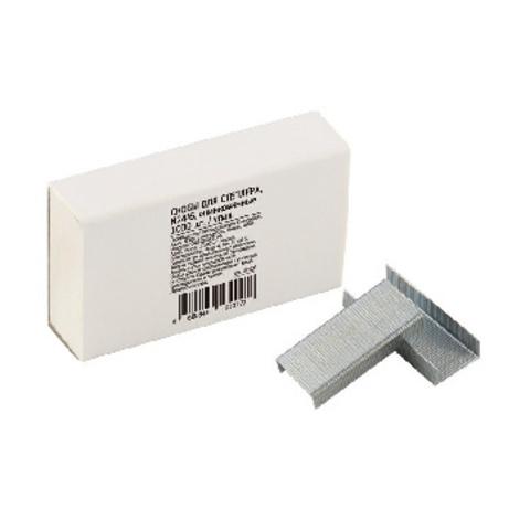 Скобы для степлера N24/6 Economy , цинк серебр.1000 шт, в карт. кор.