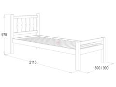 Кровать №10 одинарная