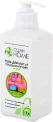 Гель для мытья детской  посуды и игрушек, CLEAN HOME, с дозатором, 1 л (есть парфюмерная отдушка)