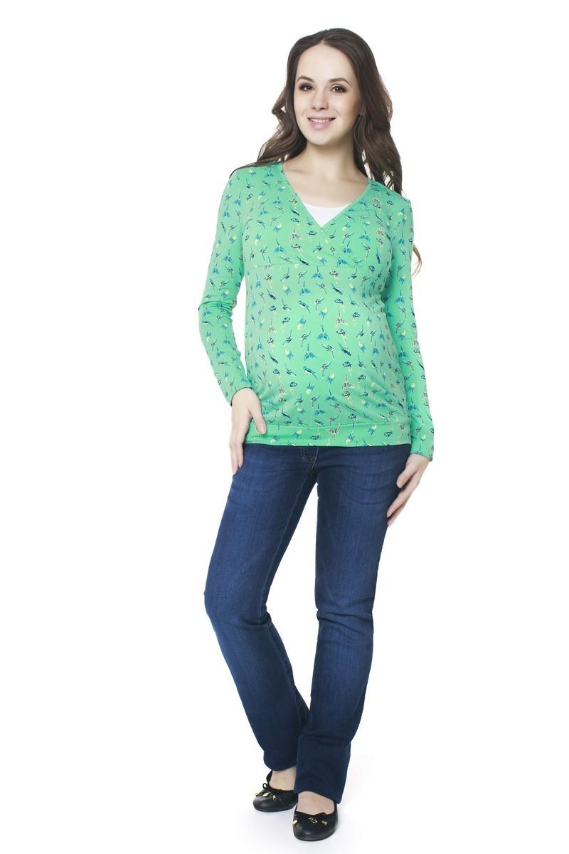Блузка 06409 зеленый
