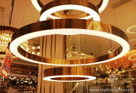 replica Light Ring Lamp (  brass ) for HENGE ( 80 CM )
