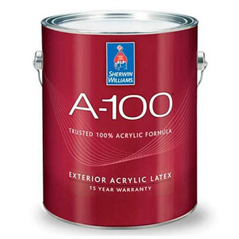 Краска Sherwin-Williams A-100 Exterior Latex Flat