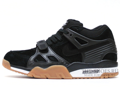 Кроссовки Мужские Nike Air Trainer III Black Suede White Begie