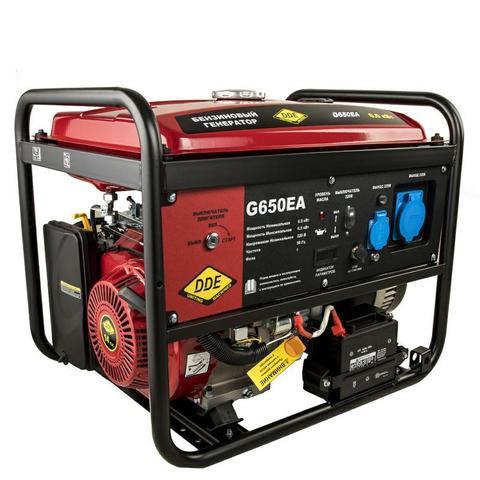 Генератор бензиновый DDE G650EA (1ф 6,0/6,5 кВт бак 25 л 92 кг дв-ль 14 л.с. элстарт автоматика)