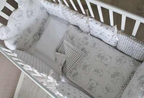 Комплект в кроватку Mr. Teddy, на 4 стороны кроватки