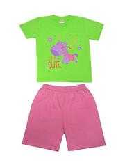 DL11-73-18-21 Комплект детский, зеленый (футболка+шорты)