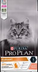 Purina Pro Plan Elegant Adult OptiDerma для кошек и котов для поддержания красоты шерсти и здоровья кожи с лососем