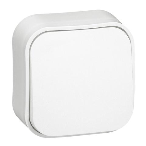 Выключатель одноклавишный проходной - 10 AX - 250 В~. Цвет Белый. Legrand Quteo (Легранд Кутео). 782204