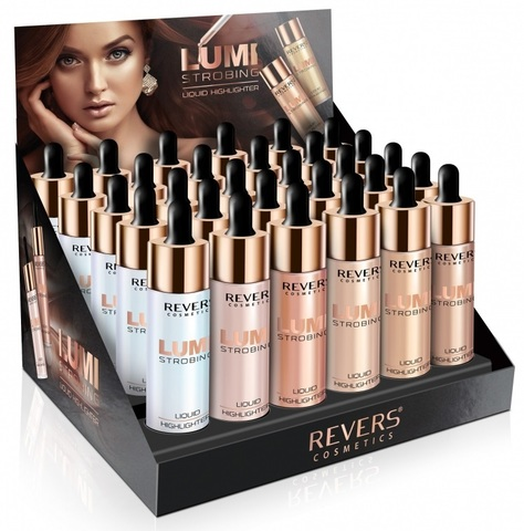 Revers Хайлайтер LUMI STROBING MIX 15ml /24шт+6тест/