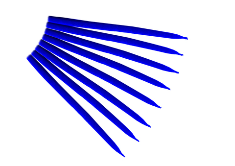 Свеча маканная  синяя
