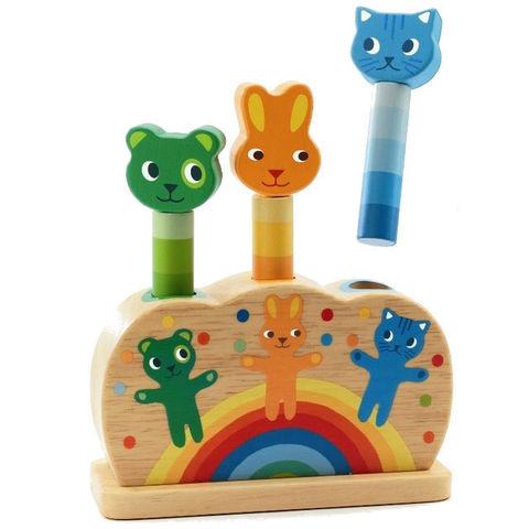 Развивающая игрушка DJECO Зверюшки попрыгунчики