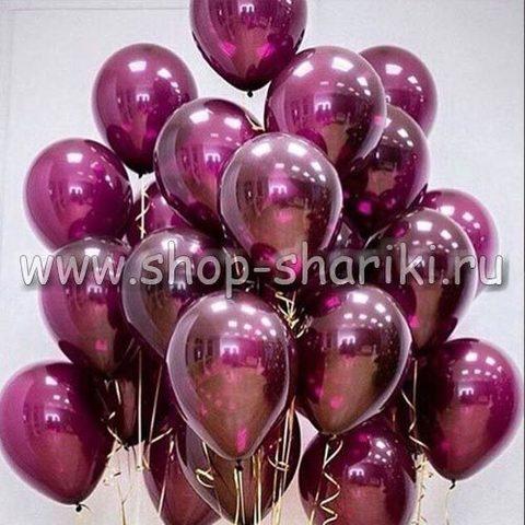 бордовые стеклянные шары