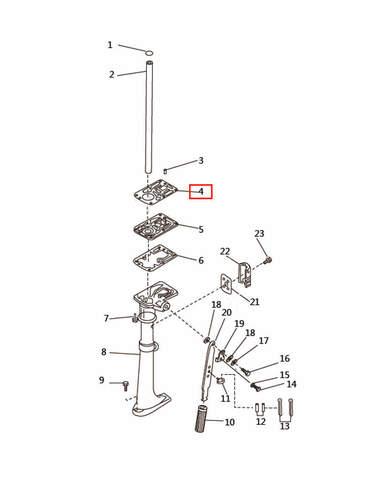 Прокладка под двигатель  для лодочного мотора T2,5 SEA-PRO (7-4)