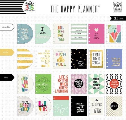 Тематические разделительные страницы для планера Create 365 Planner Themed Cards-  Inspiration -24шт.