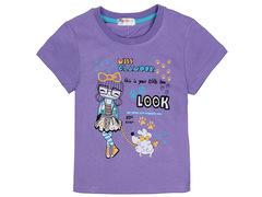 702-10 футболка детская, фиолетовая