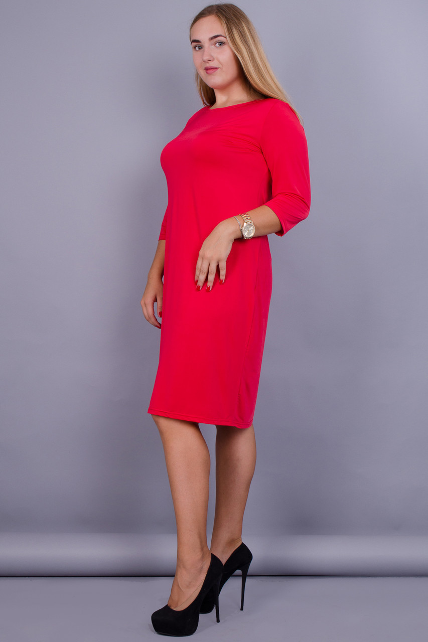 Аріна. Плаття для великих розмірів. Червоний. 36f7fd618de33