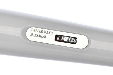 Массажер аккумуляторный, белый (7 скоростей)