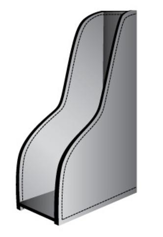Схема вертикального лотка для бумаг.