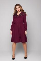 Платье из шифона 1989 бордо