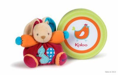 Kaloo. Мягкая игрушка Зайка с разноцветными ушами маленький - белочка