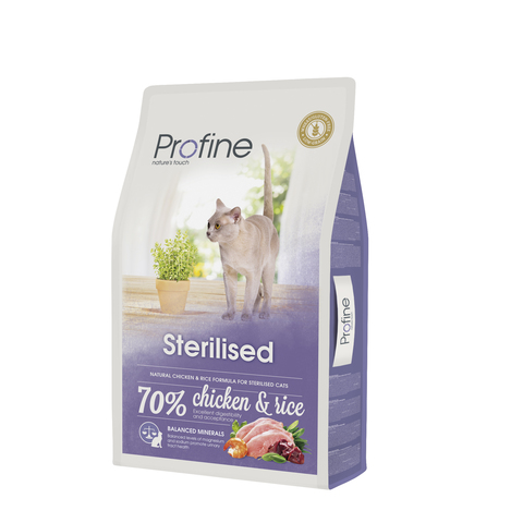 Profine Cat Sterilised   300g курица и рис д/кастриров.