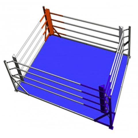 Боксёрский ринг напольный на упорах 5x5 TOTALBOX Р 68-5