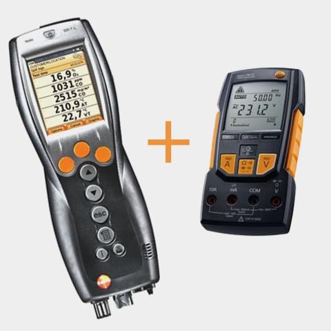 Портативный газоанализатор Testo 330-2 LL NOx BT+мультиметр Testo 760-2 с магнитным креплением, кейс, Описание Testo 330-2 LL NOx BT+мультиметр Testo 760-2 (арт: 0563 3377)