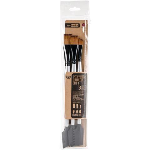 Набор кистей 4шт- Finnabair Art Basics Double-Ended Brush Set 3/Pkg  -Prima Marketing