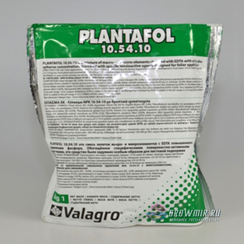 Valagro Plantofol 10-54-10 - 100 гр. Италия
