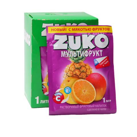 Растворимый напиток ZUKO Мультифрукт  1кор*8бл*12шт 25 гр.