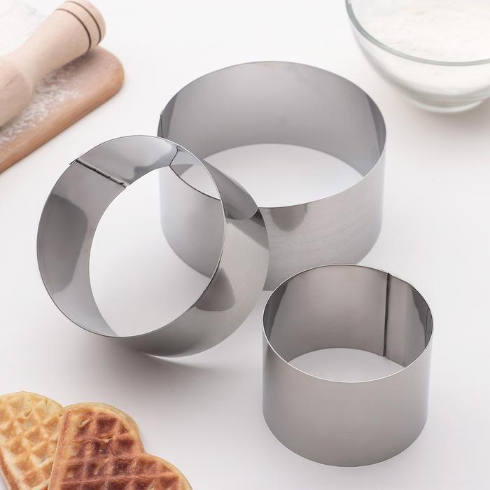 Форма для выкладки и выпечки «Круг», диаметр 10см
