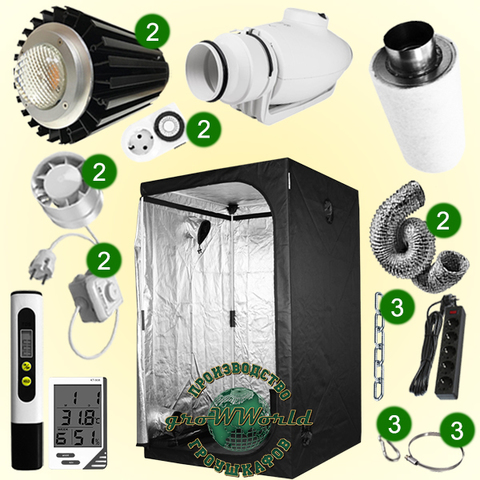 120х120х200 PROBOX LED CITIZEN 400w COB SUPERSILENT