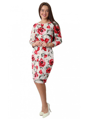 M12-1 платье женское, бежевое