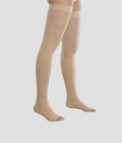 Компрессионные чулки женские плотные, с открытым носком III класс копрессии Венотекс